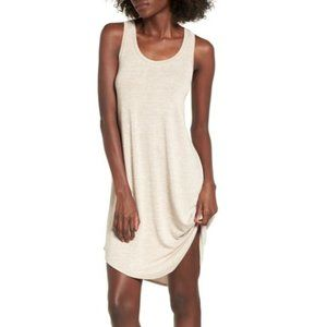 Leith Heather Tan Tank Shift Dress